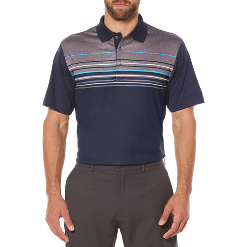 Men's Performance Short Sleeve Tonal Stripe Golf Polo Shirt by