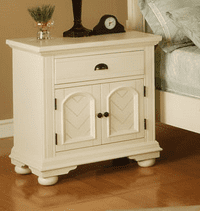 Cambridge Hyde Park One-Drawer Nightstand in White