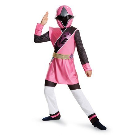 Power Rangers Girls' Pink Ranger Ninja Steel Deluxe Costume (Girls Power Ranger)