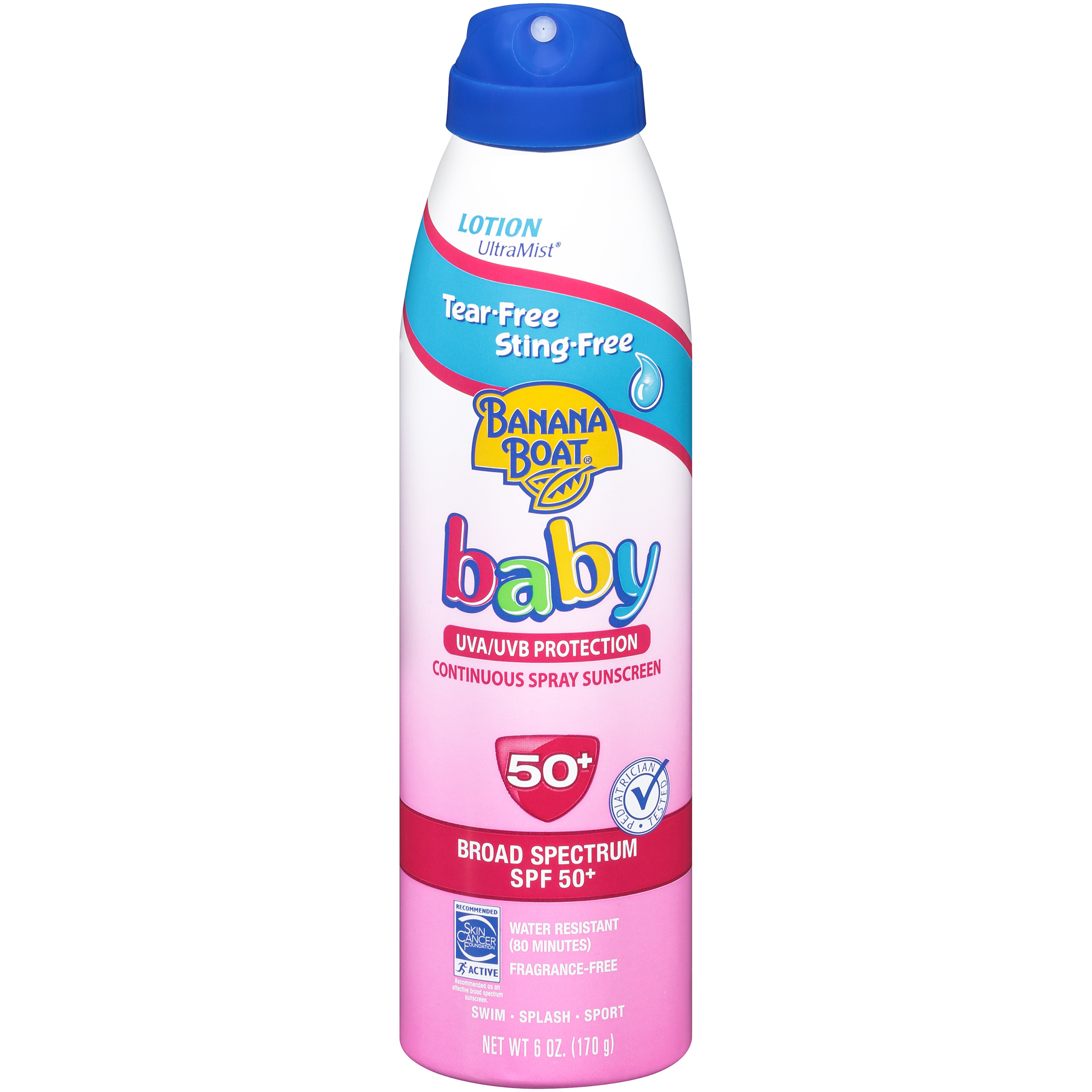 Banana Boat Baby Tear-Free Sting-Free Lotion Spray Sunscreen Broad Spectrum SPF 50 - 6 Ounces