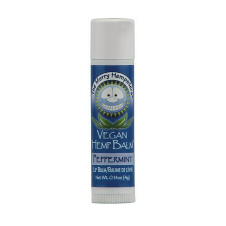 Merry Hempsters Vegan Hemp Lip Balm, Peppermint - 0.14 Oz