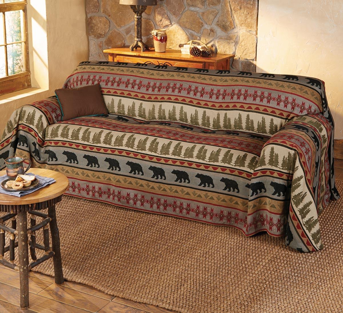 Exceptional Montana Bear Sofa Cover   Wilderness Furniture   Walmart.com