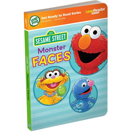 LeapFrog LeapReader Junior Book: Sesame Street Monster Faces (works with Tag Junior) Learn words that express feelings with the help of lovable Sesame Street friends! Explore emotions like happy, sad, worried and surprised by touching pictures and words in this interactive LeapReader Junior board book. Find out why Elmo is sad and Rosita is silly. Have fun making faces with the whole family. Age 1-3 years. Helps children identify and communicate their feelings and become aware of others' emotions. Teaches new vocabulary words for a range of emotions and feelings. 24+ playful activities and 150+ audio responses engage children and reinforce skills children need as they get ready to read. Explore emotions with Sesame Street characters and learn new words for feelings in this interactive LeapReader Junior board book. 24+ activities and 150+ audio responses. Teaches about emotions and social play. Ages 1-3 years. Works only with Tag Junior and LeapReader Junior Book Pal (sold separately).
