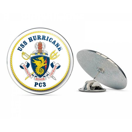 Hurricanes Logo Pin - US Navy USS Hurricane PC-3  Military Veteran USA Pride Served Gift Metal 0.75
