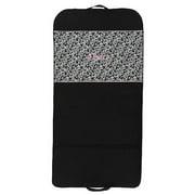 Sassi Design Girls Black Pink Damask Embroidered Dance Garment Bag