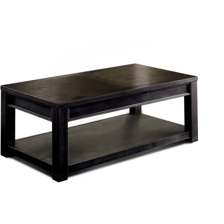 Furniture Of America Denver Rustic Coffee Table Antique Black