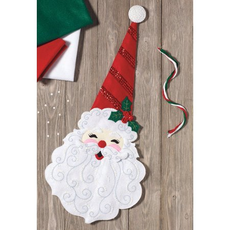 Plaid Felt - Holly Jolly Santa Felt Kit, By Plaid