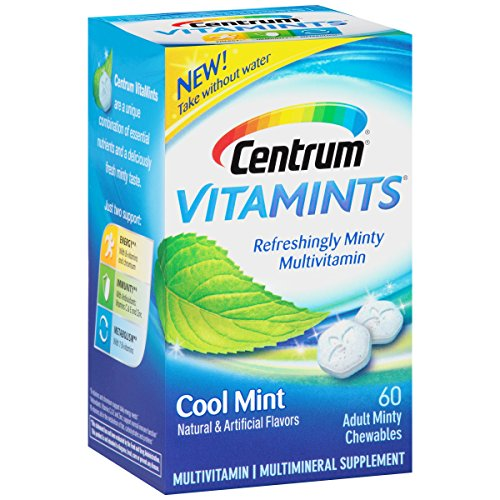 3 Pack Centrum Vitamints Cool Mint Multivitamin 60 Minty Chewables Each