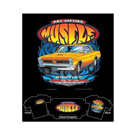 Hot 60's Muscle Pontiac GTO T-Shirt~Medium / (Mens 60's Clothes)