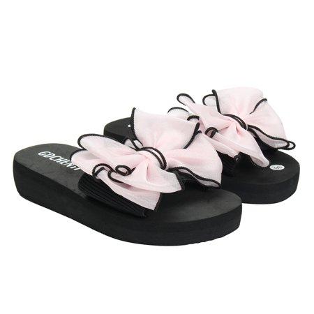 7837921161b8 Women Summer Beach Flower Flat Indoor Outdoor Slippers Flip Flops SanFlats  Shoes
