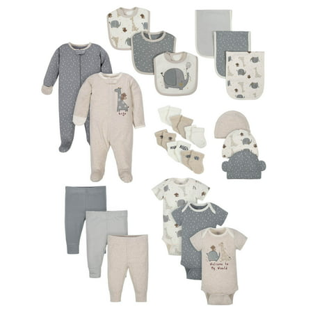 Wonder Nation Baby Shower Layette Gift Set, 23pc (Baby Boys or Baby Girls, Unisex)