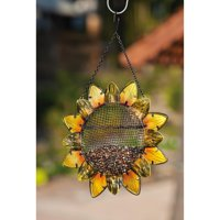 Evergreen Enterprises Sunflower Metal and Glass Birdfeeder