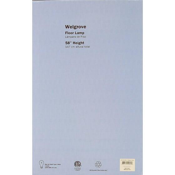 Hometrends welgrove floor lamp walmart mozeypictures Gallery