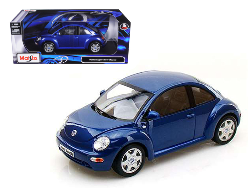 Volkswagen New Beetle Blue 1 18 Diecast Model Car by Maisto by Maisto