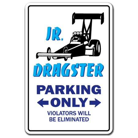 JR. DRAGSTER Decal drag racing car sports hobby speed | Indoor/Outdoor | 5