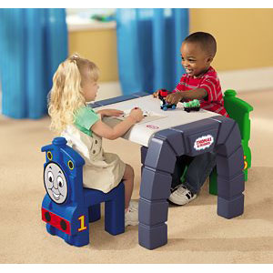 Little Tikes Take Along Thomas u0026 Friends Plastic Table and Chairs Set : thomas the train table set - pezcame.com