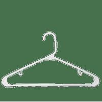 Alantro Adult Plastic Hangers, J-Hook, White, 60-Count