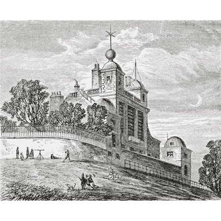 Royal Observatory Greenwich London England From the Gallery of Geography Published London Circa 1872 Poster Print, 30 x 24