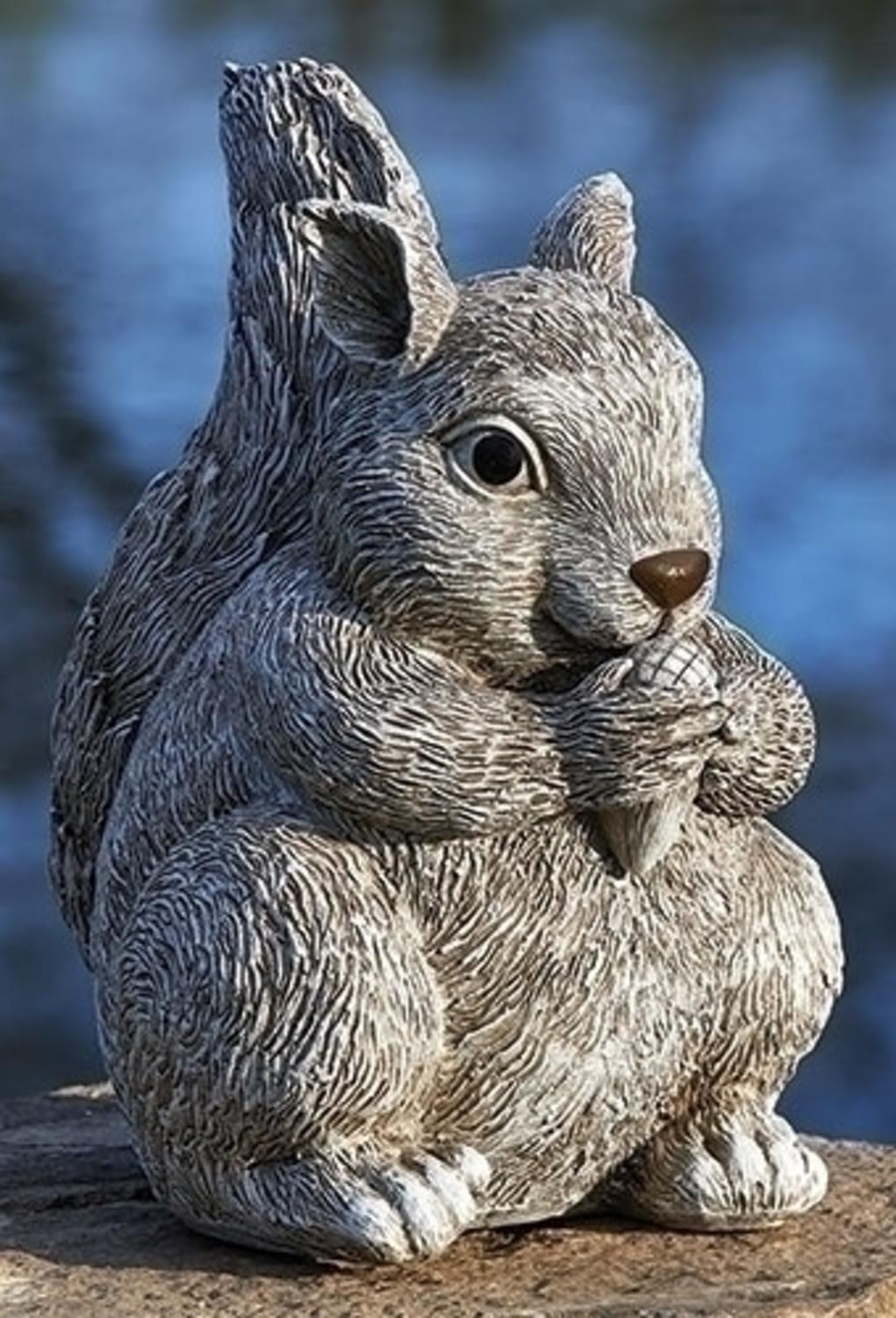 "10.25"" Pudgy Pals Weather Finished Squirrel Spring Outdoor Garden Statue by Roman"