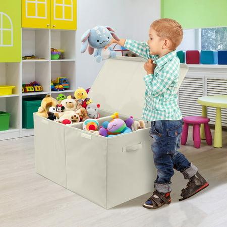 Storage Fabric Toy Chest - Beige - Top Kids Stores