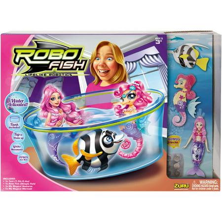 Zuru Robo Fish Set 3 Creatures Walmartcom