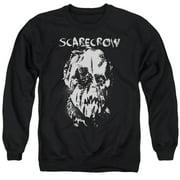 Batman Begins Scarecrow Face Mens Crewneck Sweatshirt