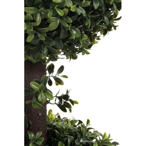 Charlton Home Artificial Double Ball Floor Boxwood Topiary in Pot