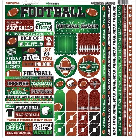 Prom Cardstock Stickers (Football Cardstock Sticker, 12