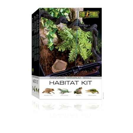 Exo Terra Small 11-Gallon Rainforest Habitat Kit