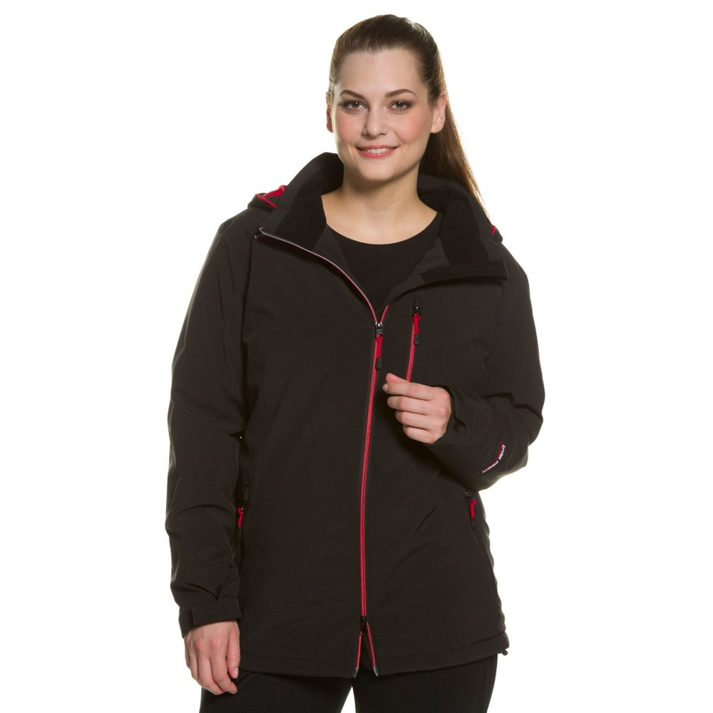 Ulla Popken Women's Plus Size Red Accent All Weather Jack...
