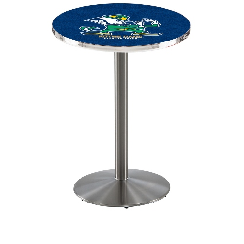 NCAA Pub Table by Holland Bar Stool, Stainless - ND Leprechaun, 42'' - L214