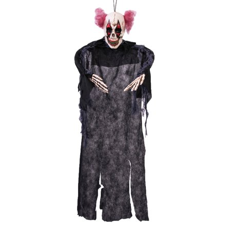 Scary Vacu Hanging 3' Clown Halloween Prop Haunted House Decorations (Throwing A Scary Halloween Party)