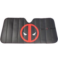 Marvel Deadpool Universal Accordion Auto Sunshade Fits Most Cars, Trucks, SUVs and Vans, Cools & Block Out UV Rays