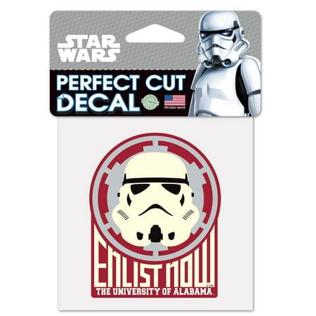 NCAA Star Wars Storm Trooper Die Cut Car Decal Wincraft