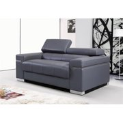 JandM Furniture 176551113-LS-GR Soho Loveseat - Grey Leather