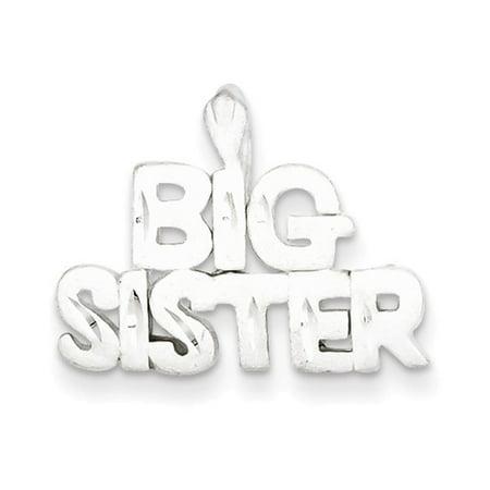Sterling Silver Big Sister Charm (Sterling Silver Big Sister)