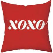 Checkerboard, Ltd XoXo Throw Pillow