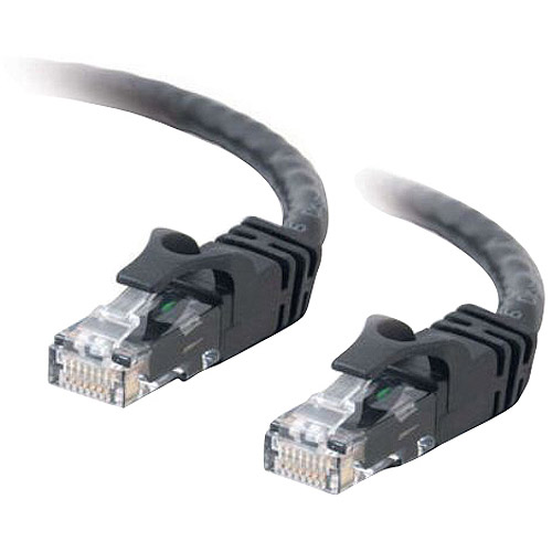 C2G Cat6 550MHz Snagless Patch Cable, 50', Black