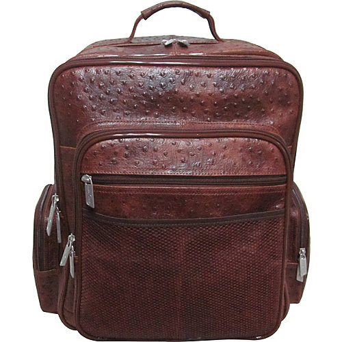 CEO Ostrich-Print Leather Backpack