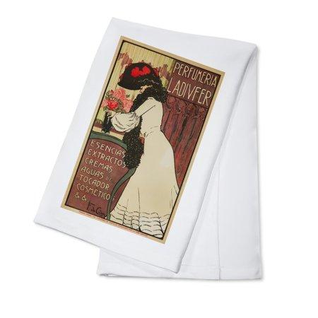 Perfumerie Ladivfer Vintage Poster  Artist  De Cidon Navarro  France C  1903  100  Cotton Kitchen Towel