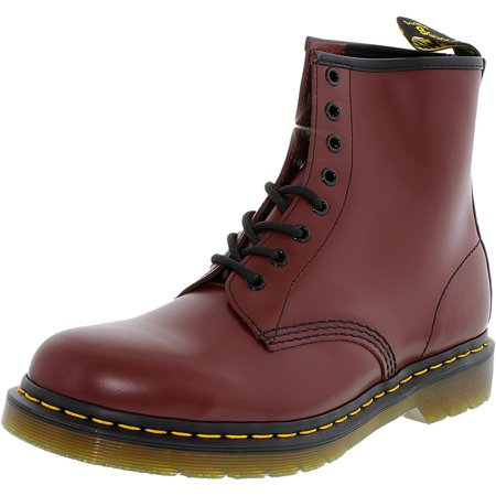 Dr. Martens Men's 1460 8-Eye Smooth Cherry Red Ankle-High Leather Boot - 6M - Kids Red Dr Martens