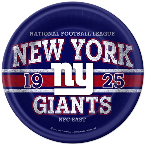 Vintage New York Giants 9 inch Lunch/Dinner Plates (8 ct)