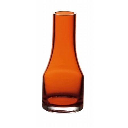 Amber Jewel Accents Glass (Majestic Gifts E60702-D 5.9 in. Happy Days Glass Vase,)