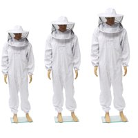3 Sizes Professional Bee Suit Beekeeper Full Body Protection Multi Pocket Beekeeping Jacket with Removable Round Hat Veil