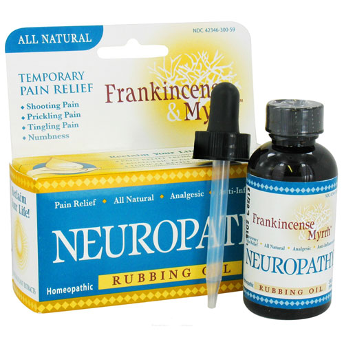 Frankincense And Myrrh Neuropathy Pain Relief Homeopathic Rubbing Oil, 2 Oz