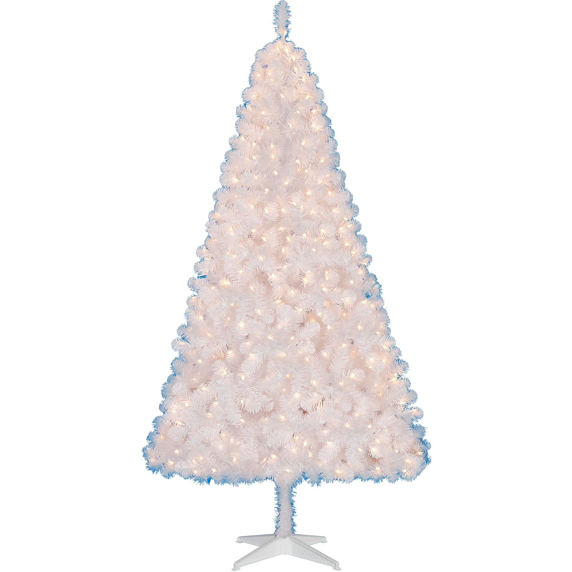 Holiday Time Pre-Lit 6.5' Madison Christmas Tree, White, Clear ...