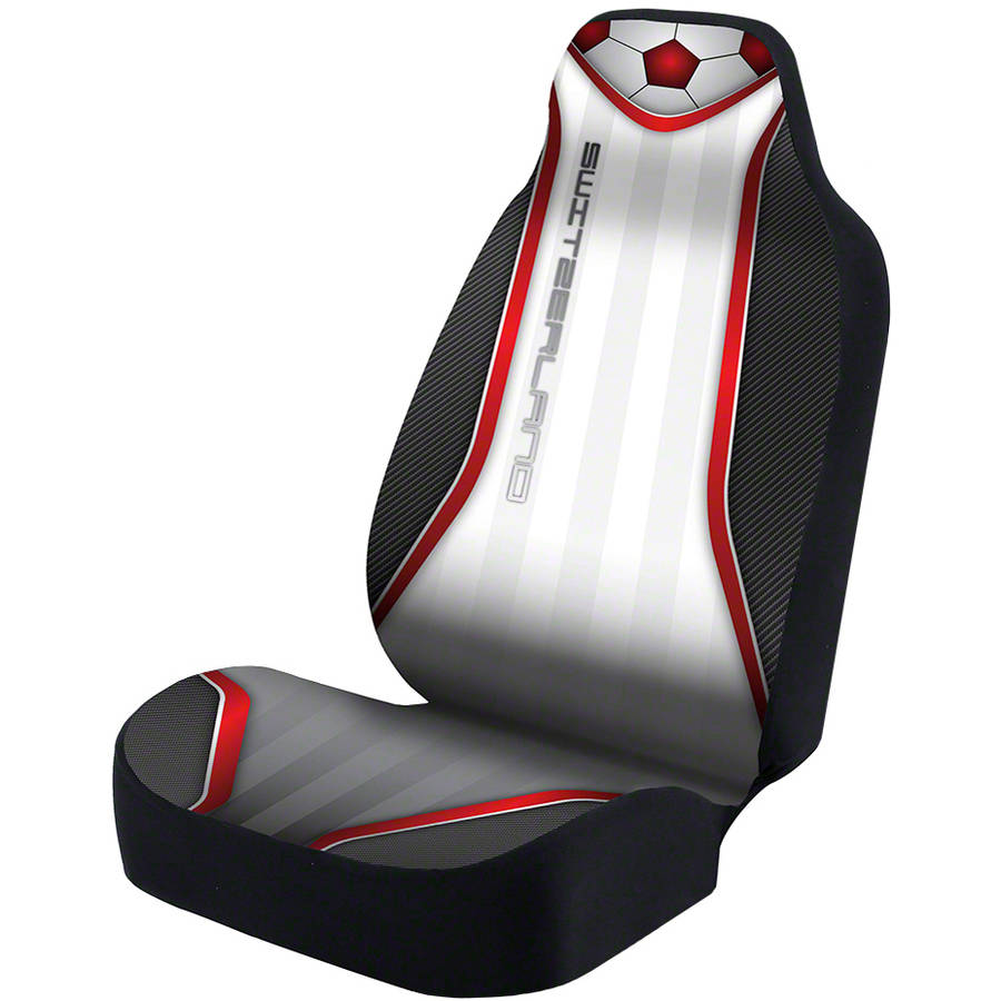 Coverking Universal Seat Cover Designer Ultra Suede, World Cup Switzerland
