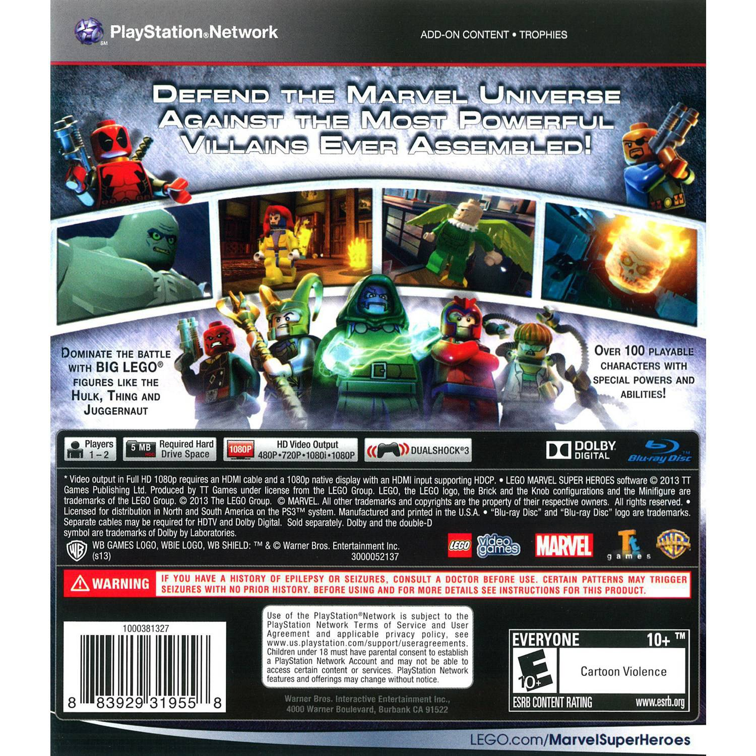 Warner Bros Lego Marvel Super Heroes For Playstation 3 Walmart Com