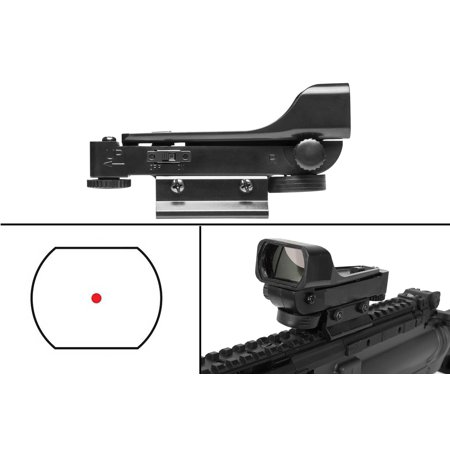 Ultimate Arms Gear Polymer Reticle Red Dot Open Tubeless Reflex Scope Sight Weaver-Picatinny & Dovetail Mount Adapter Rail, Black for Carbon Parker Crossbow