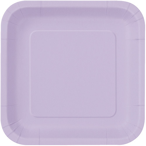 This button opens a dialog that displays additional images for this product with the option to zoom in or out.  sc 1 st  Walmart & Square Paper Plates 9 in Lavender 14ct - Walmart.com